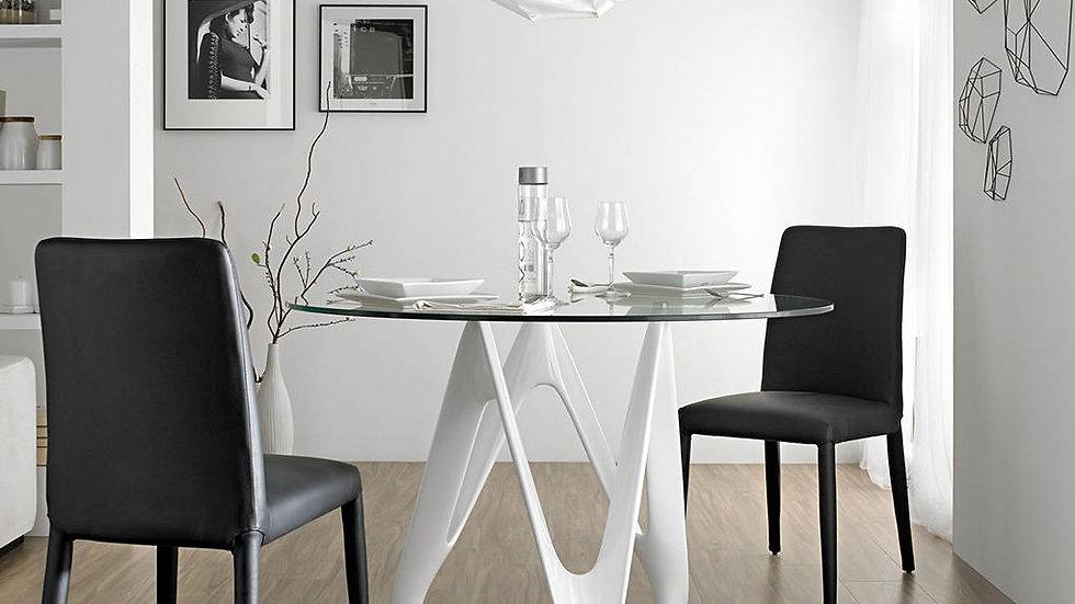 Mesa comedor redonda cristal modelo 1000