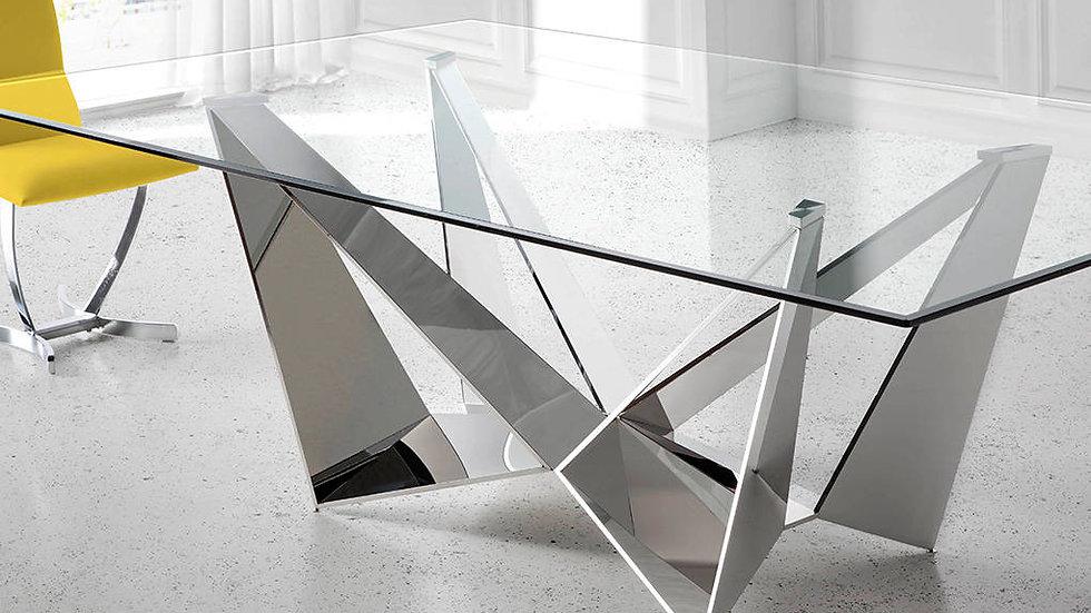 Mesa comedor rectangular cristal modelo 1049