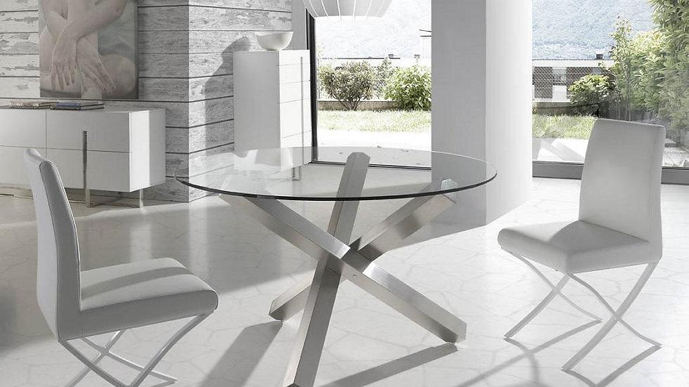 Mesa comedor redonda cristal modelo 1003