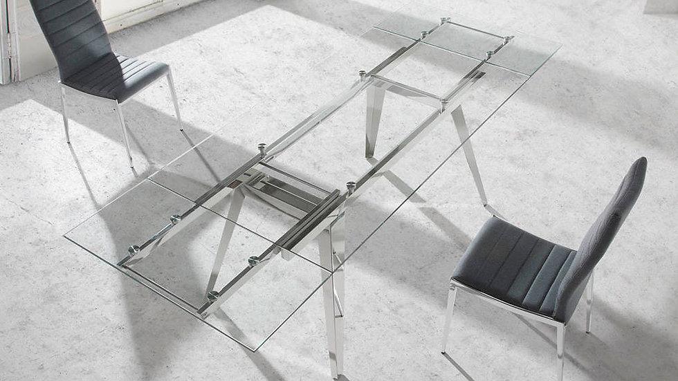 Mesa comedor extensible cristal modelo 1005