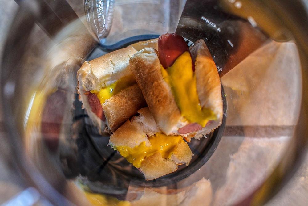 Sliced hotdogs