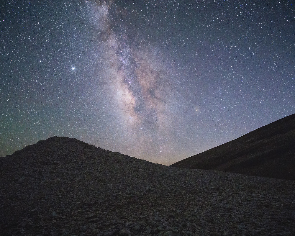 The Milkyway Galaxy over the White Mountains of California.