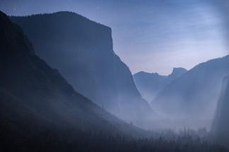 Moonlit Yosemite Valley