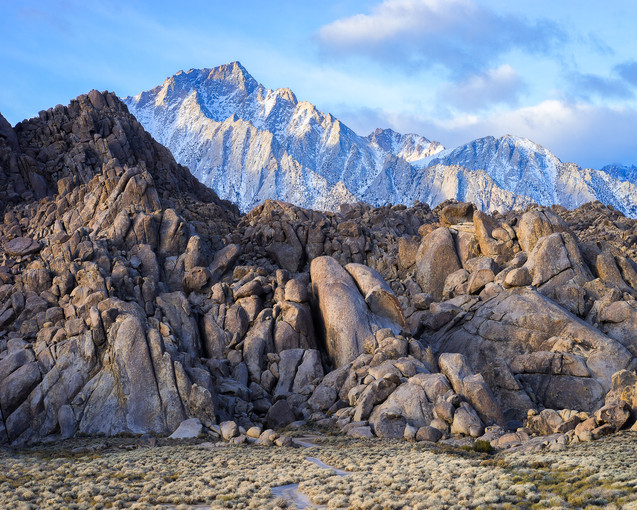 First Light on Lone Pine Peak