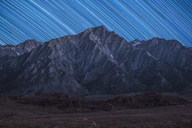 Lone Pine Peak by Night