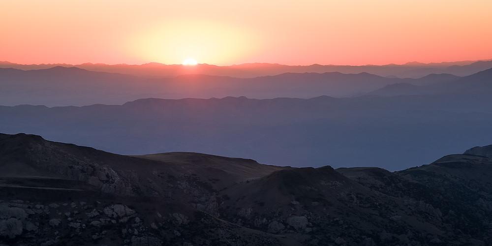 California White Mountains sunrise.