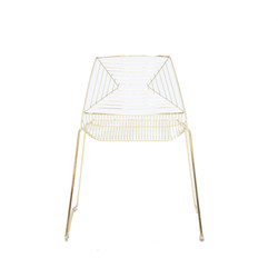 Gold Geo Chair
