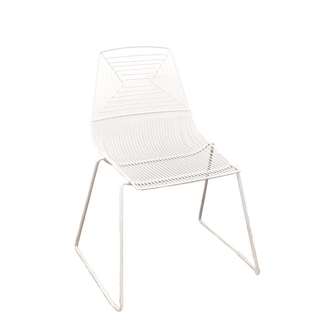White Geo Chair