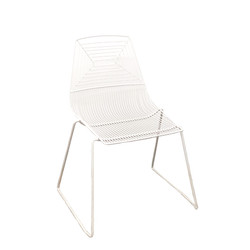 White Geo Chair