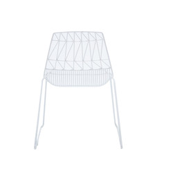 White Arrow Chair