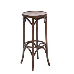 Walnut Bentwood Stool