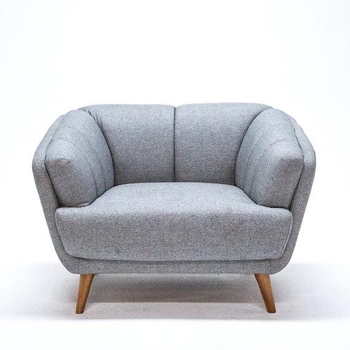 Toorak Tub Chair Silver