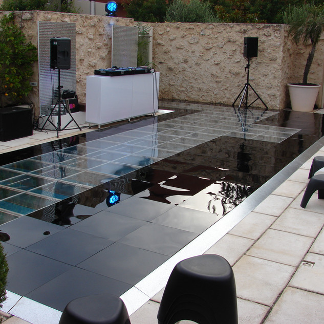 Clear Pool Dancefloor Cover