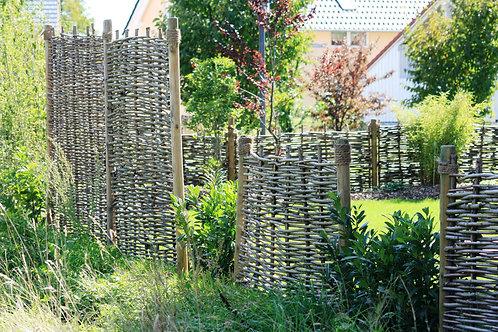 Haselnusszaun, Flechtzaun ohne Rahmen 1,8m*1,8m