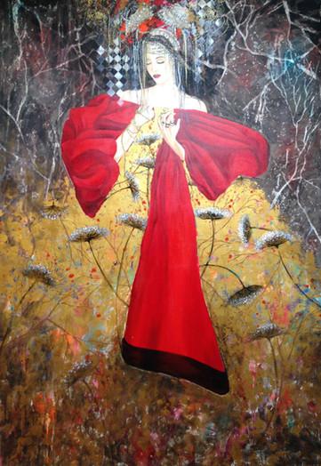le drape rouge - 116x89