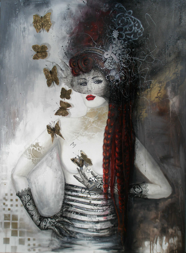 Melodie pour un papillon - 55x70