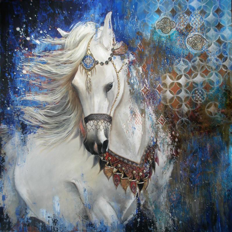 Le cheval blanc - 80x80