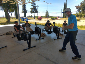 Bob Oprandy instructing DCA cadets in Erg Ed