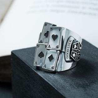 4 card ring(silver925)