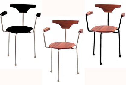 Arne's Armrest chairs in their 3 options