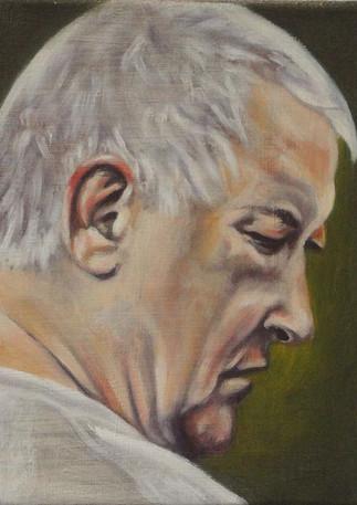 "Head Study of a Man  Oil on linen 10"" x 8"" 2015"