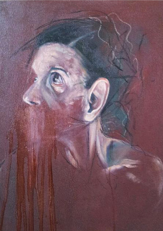 "Exploration III  Mixed media on canvas 20"" x 20"" 2013"