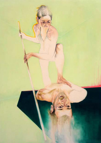 "L'intervention de l'image  Mixed media on canvas 48"" x 36"" 2012"