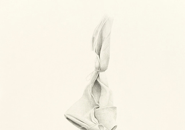 Code Blue; Wrapped Tree III  Graphite on paper 60 in x 40 in 2018