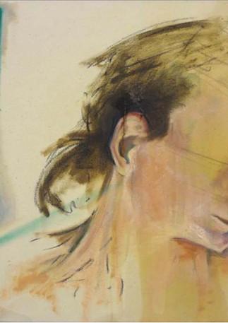 "Exploration IV  Mixed media on canvas 20"" x 16"" 2013"