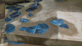 Les flaques d'eau