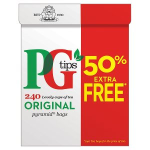 PG Tips 50% Extra 160p Pyramid Tea Bags