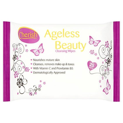 Cherish 25pk Ageless Facial Wipes
