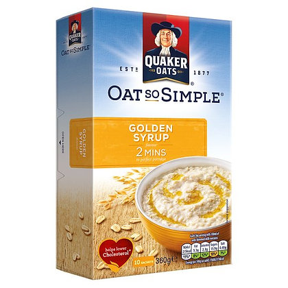 Quaker 8pk Oats So Simple Golden Syrup