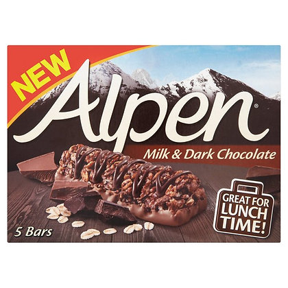 Alpen 5pk Milk & Dark Chocolate