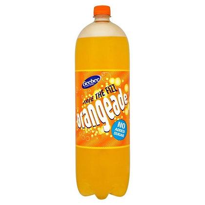 Geebee 2ltr Orangeade No Added Sugar