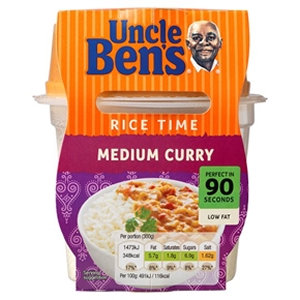 Uncle Ben's 300g Rice Time Medium Curry