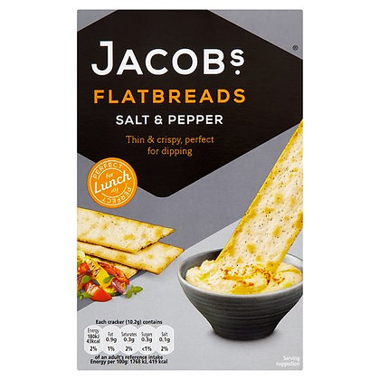 Jacob's 150g Salt & Pepper Flatbreads