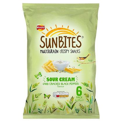 Walkers 6 x 25 Sour Cream Sunbites