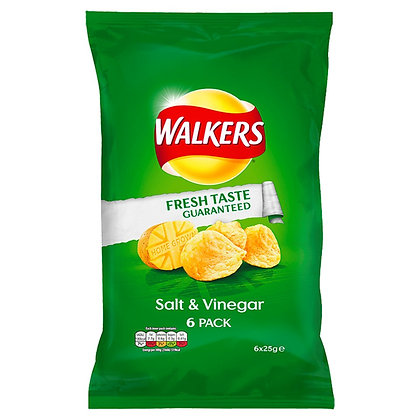Walkers 6pk Salt & Vinegar Crisps