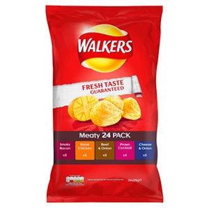 Walkers 24pk Meaty Crisps