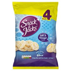 Quaker 4pk 22g Salt & Vinegar Snack-A-Jack