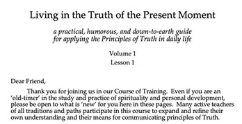 The Course of Training - Living in the Truth of the Present Moment