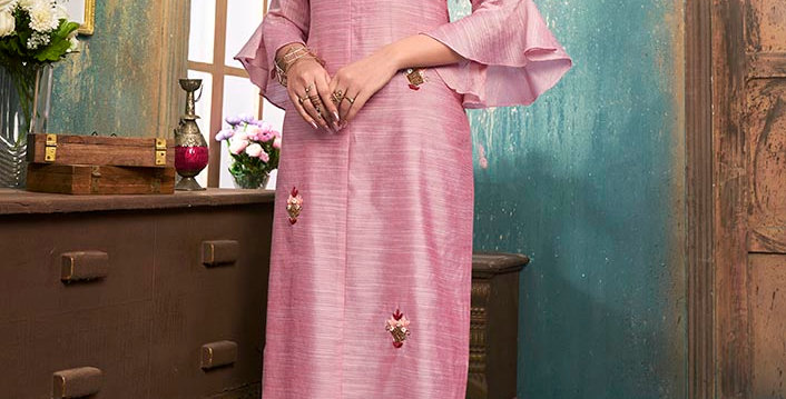 Pretty Style Designer Readymade one Piece Tunic & Kurti, Pink