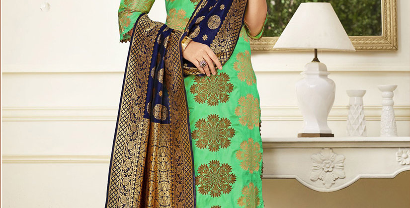 Hera is A  Pretty Designer Light Green  Color  Straight Salwar Suit
