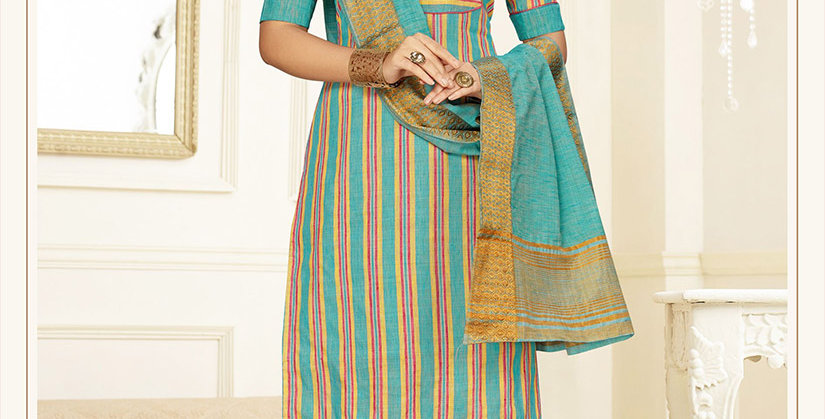 Hera is A  Pretty Designer Sky Blue Color  Straight Salwar Suit
