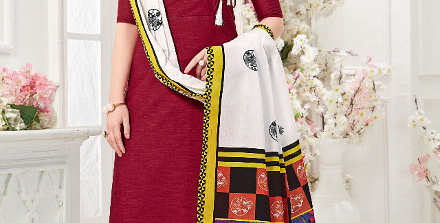 Festive Season With Beauty  Maroon Color Readymade Gown with Duppatta