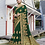 Thumbnail: Heavy Designer Saree In Dark Green Color with Art Silk Fabricated