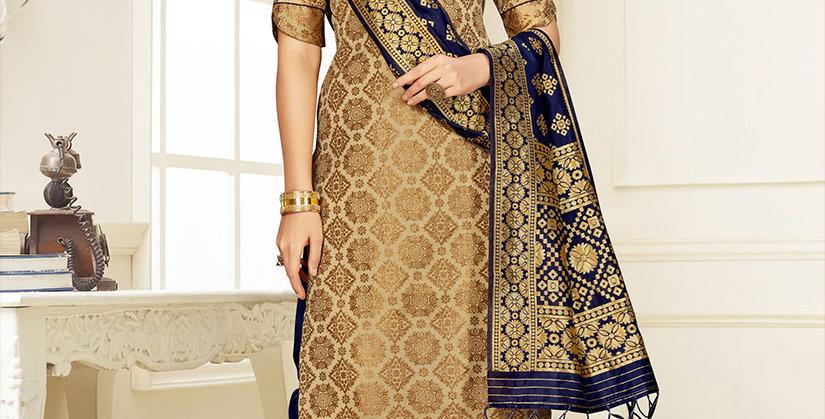 Hera is A  Pretty Designer Beige Color  Straight Salwar Suit