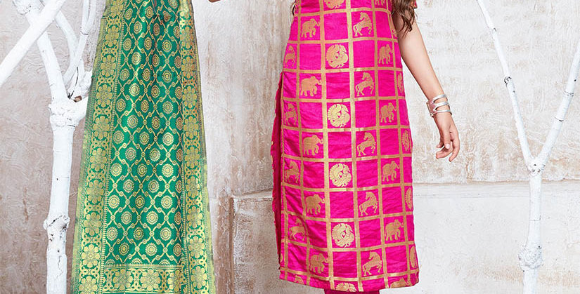 Hera is A  Pretty Designer  Rani Pink Color  Straight Salwar Suit