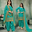Thumbnail: New stylish Teal Grean heavy Patiyala Suit Collection with Gota Patti work